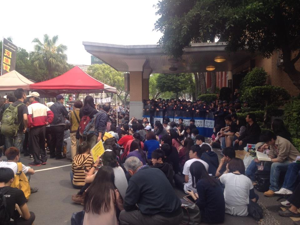 View outside the parliament (Photo by Felicia Lin)